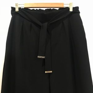 Anne Klein Pants Flare Pull Up Stretch Small Black